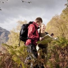Orienteering by Loch Lomond