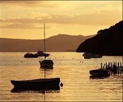 Balmaha boatyard Loch Lomond