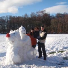 A snowman at Loch Lomond Waterfront