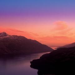 A sunset over Loch Lomond