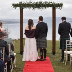 An outdoor wedding at Loch Lomond Waterfront