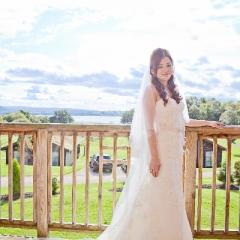 A bride at her wedding at Loch Lomond Waterfront