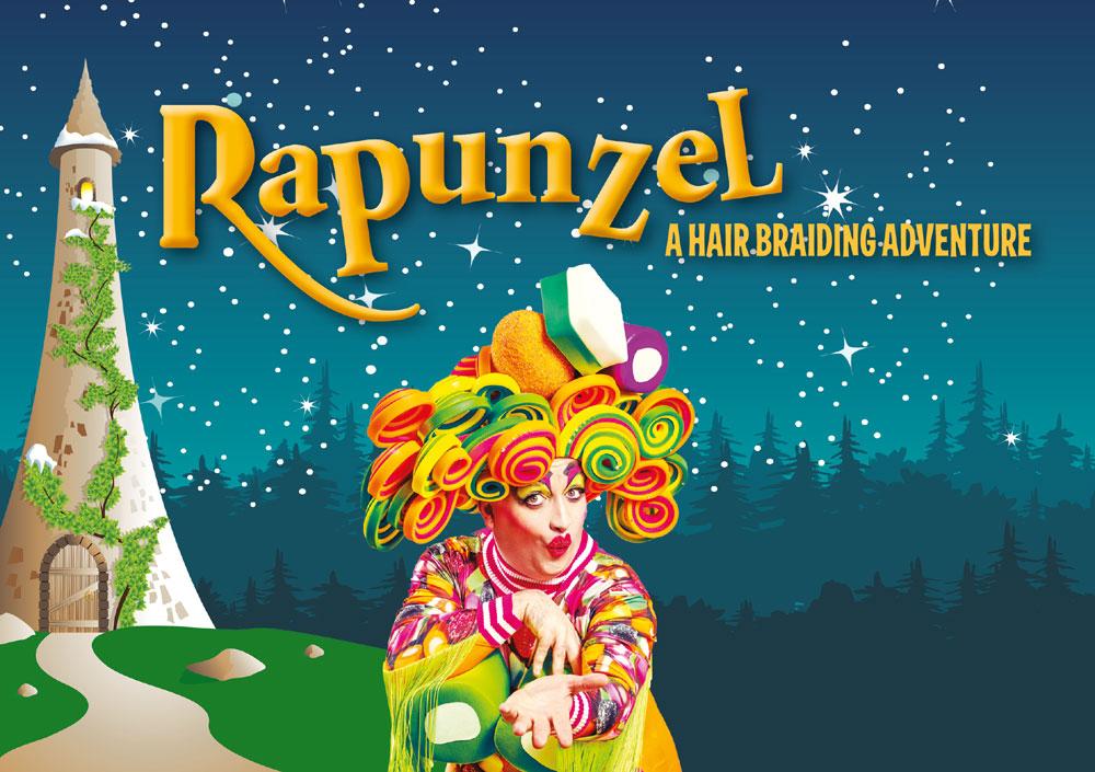 Poster for Rapunzel Pantomime in Stirling