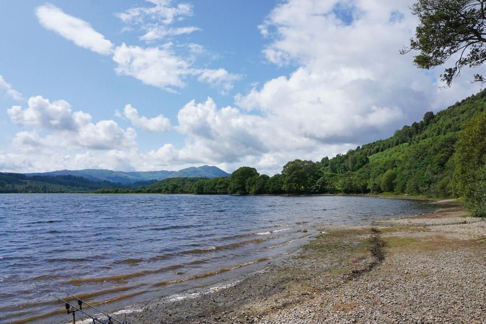 The shores of Loch Lomond near Balmaha in Scotland
