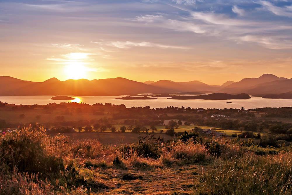 sunset at Loch Lomond