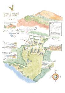 Loch Lomond Waterfront site map